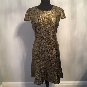 eb0f6cbe3547 Michael Kors Dresses - MichaelKors Supernova Foil-print flounce hem dress